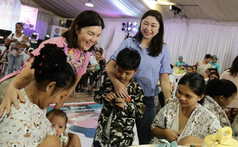 400 nursing moms gather in Taguig to donate breast milk for 'Taal babies'