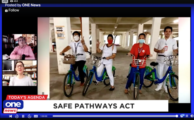 Ensure safe pathways for frontliners, bikers, pedestrians